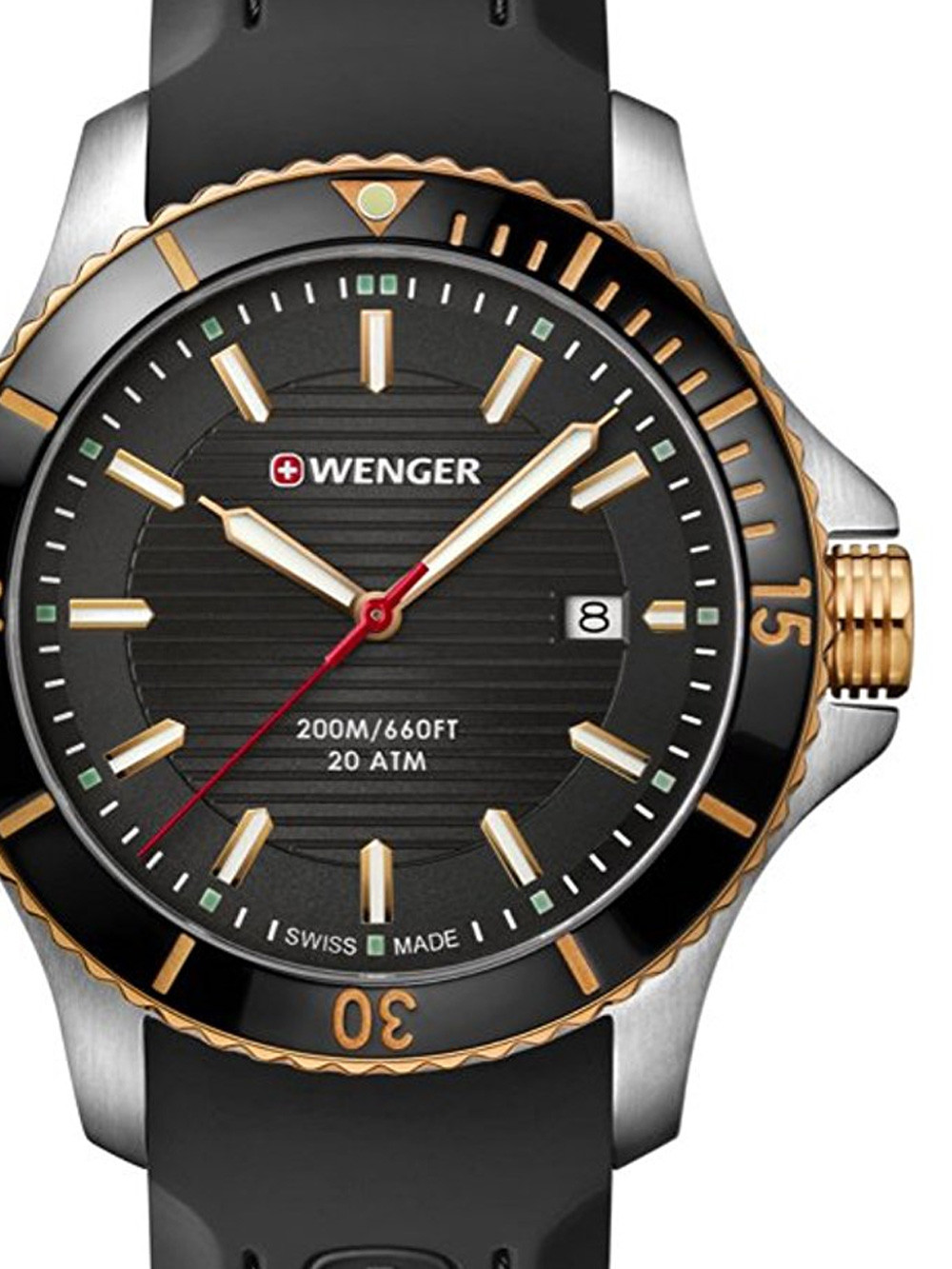 Wenger 01.0641.126 Seaforce Herren 43mm 20ATM