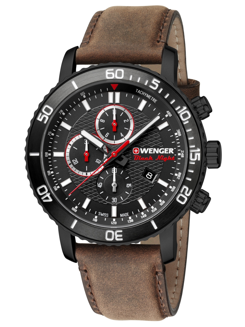 Wenger 01.1843.107 Roadster Black Night Chronograph 45mm 10ATM