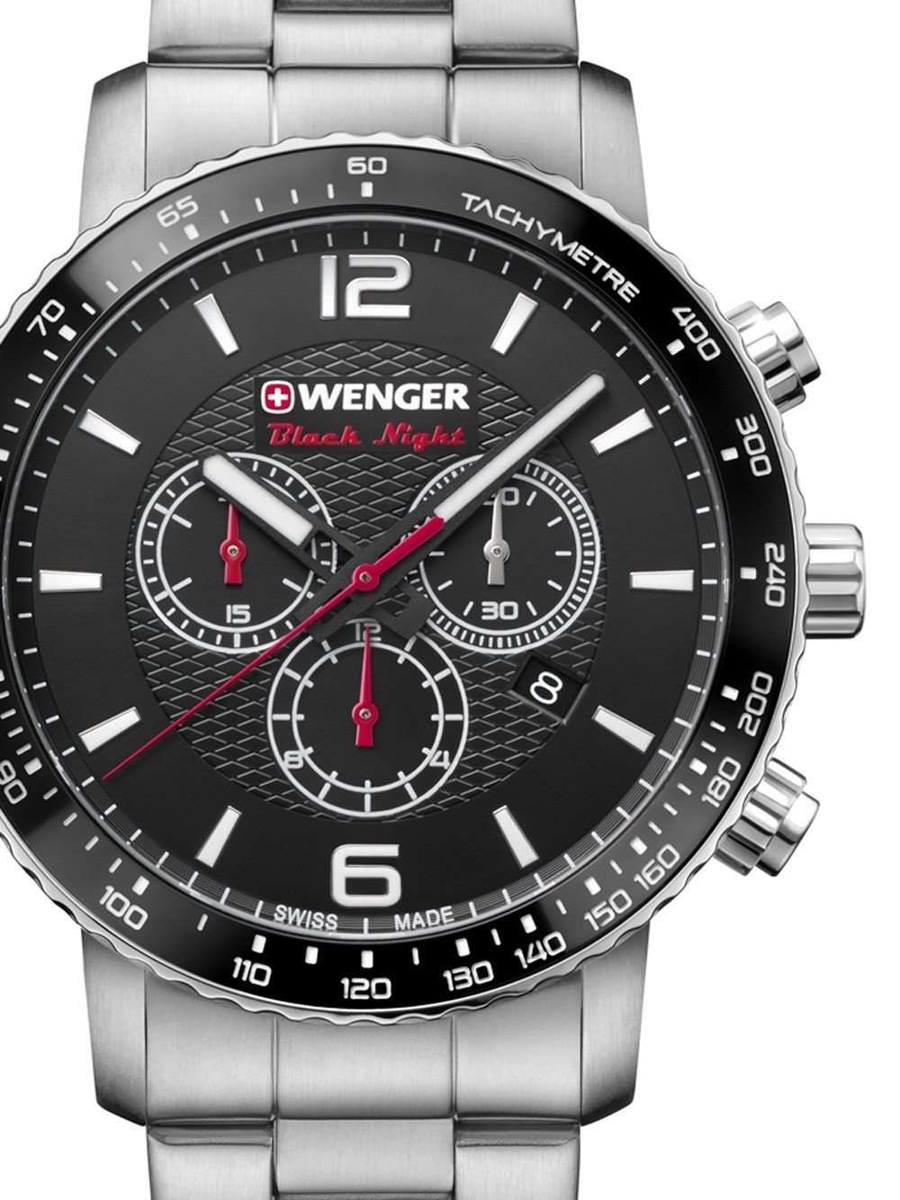 Wenger 01.1843.103 Roadster Black Night Chronograph 44mm 10ATM