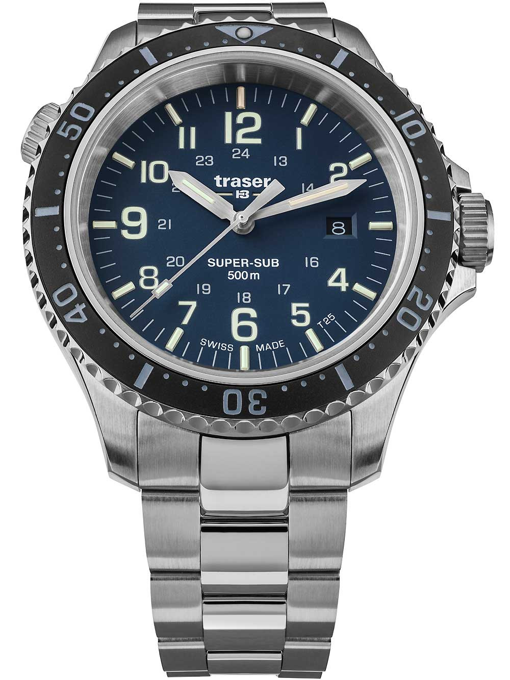 Traser H3 109375 P67 T25 SuperSub Blue 46 mm Taucheruhr 50ATM
