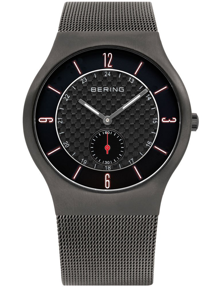 Bering Classic 11940-377 Herrenuhr grau carbon 40 mm