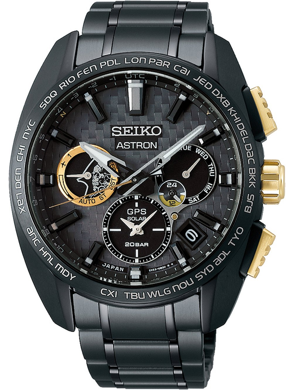 Seiko SSH097J1 Astron GPS Solar Dual Time Limited Edition 43mm 20ATM