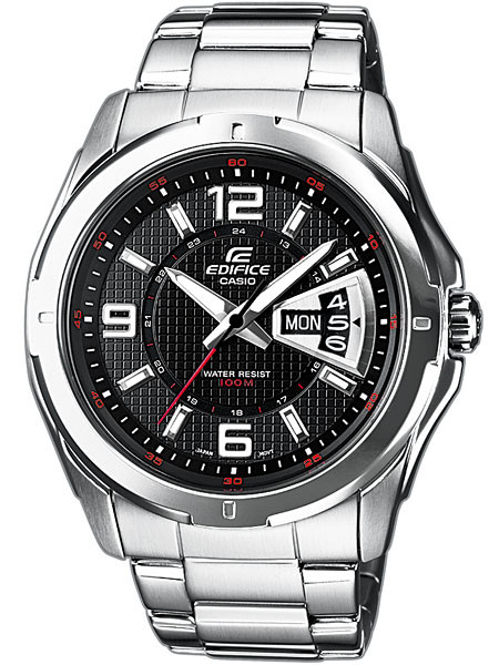 CASIO EF-129D-1AVEF EDIFICE Herren 45mm 10ATM