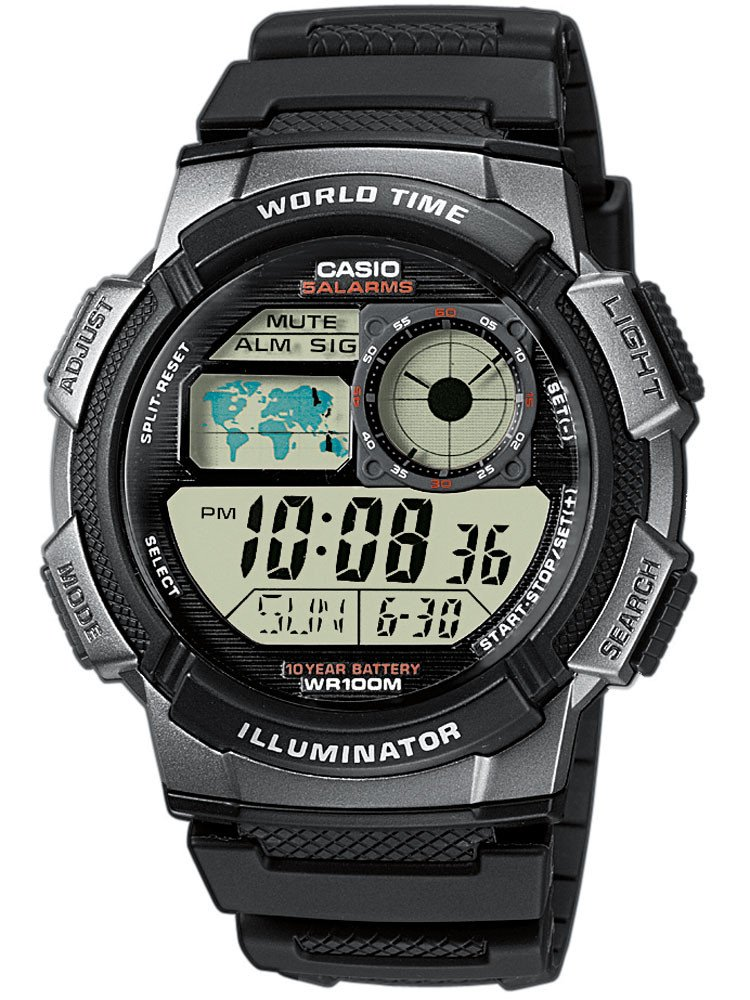 CASIO AE-1000W-1BVEF Collection 44mm 10ATM