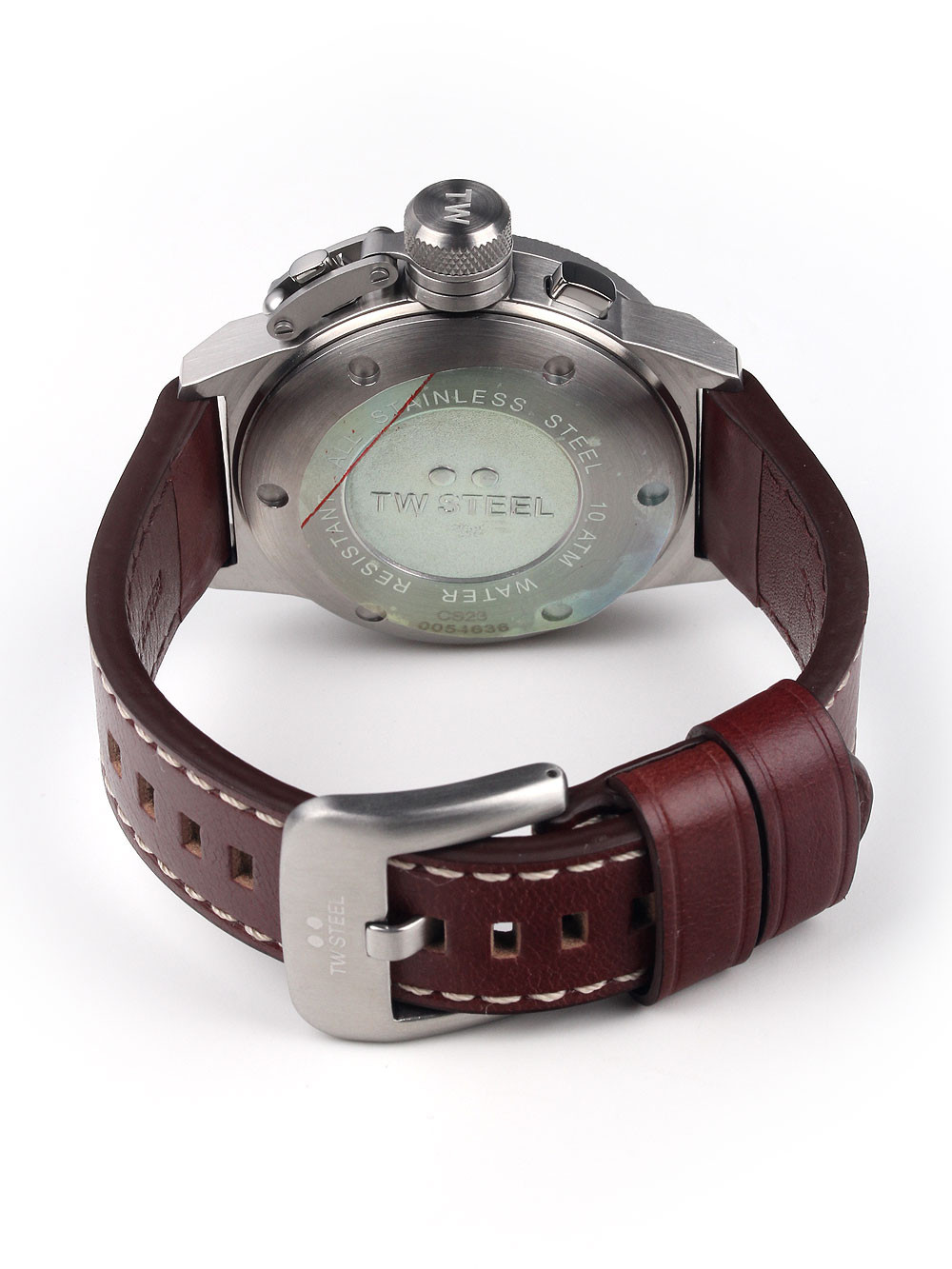 TW-Steel CS23 Canteen Leather Chronograph 45mm 10ATM
