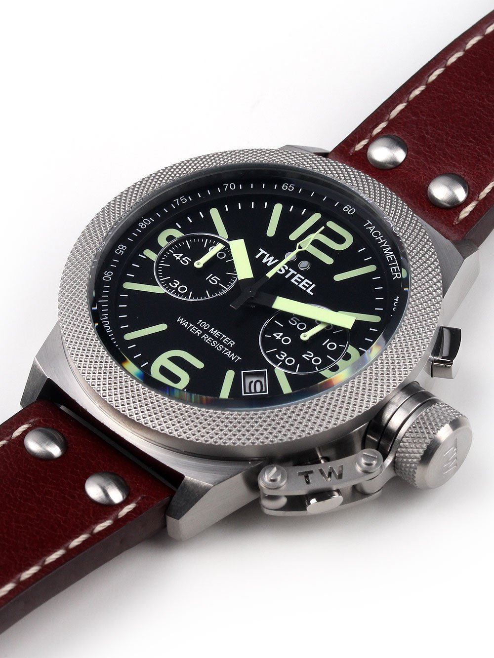 TW Steel CS23 Canteen Leather Chronograph 45mm 10ATM