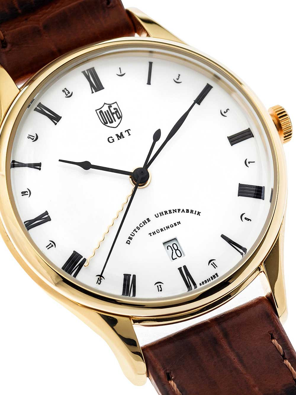 DuFa DF-9006-03 Weimar GMT 38mm 3ATM