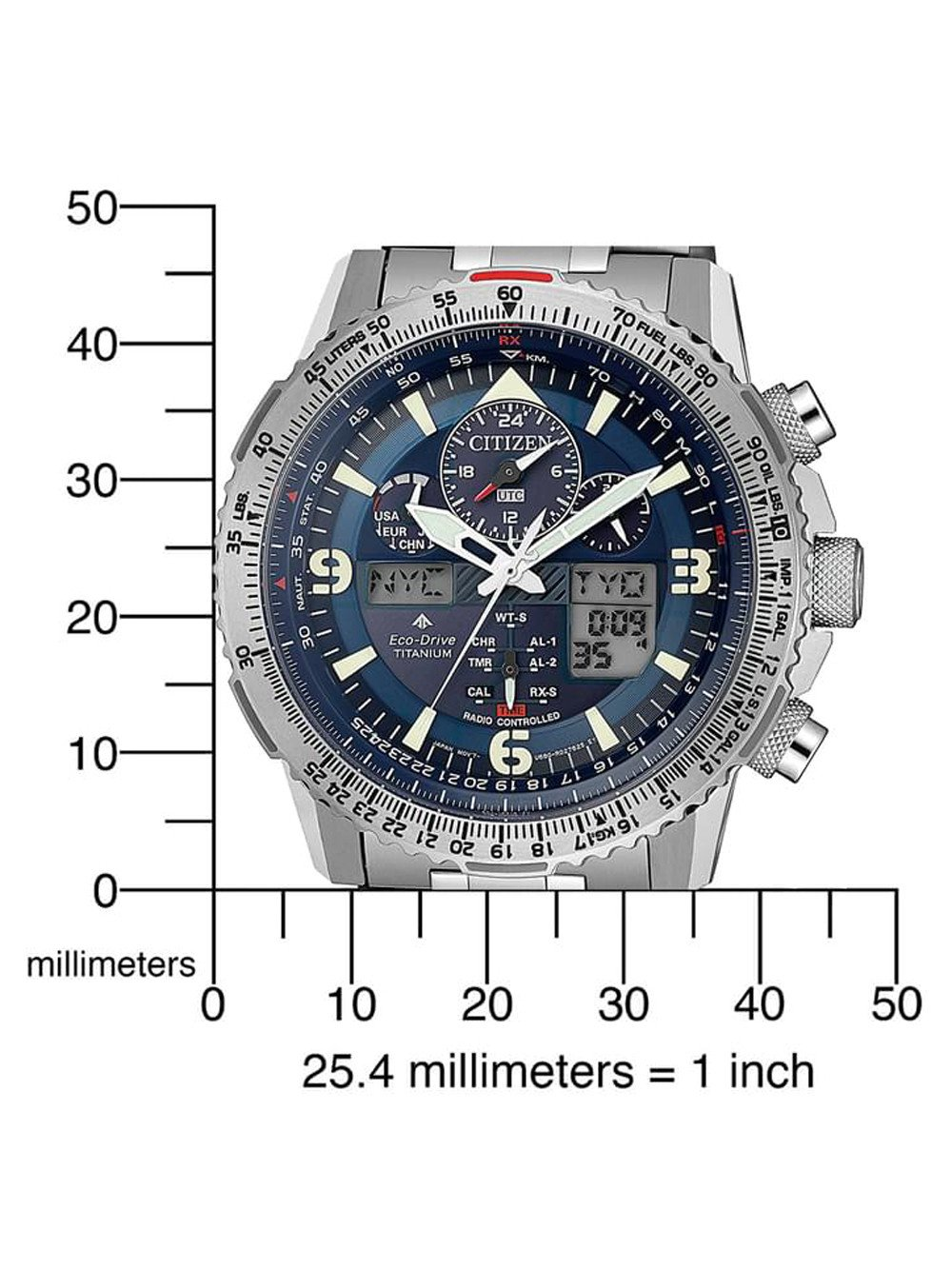 Citizen JY8100-80L Promaster Sky Chronograph 45mm 20ATM