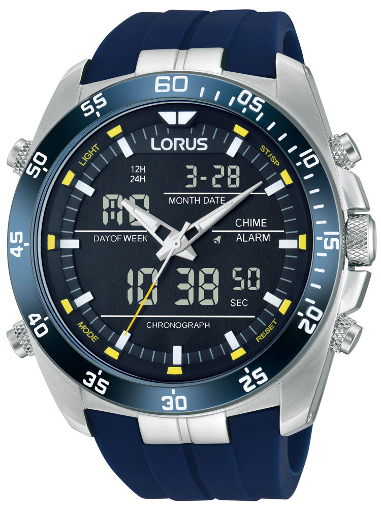 Lorus RW617AX9 Analog-Digital Alarm Chronograph 100M 46mm