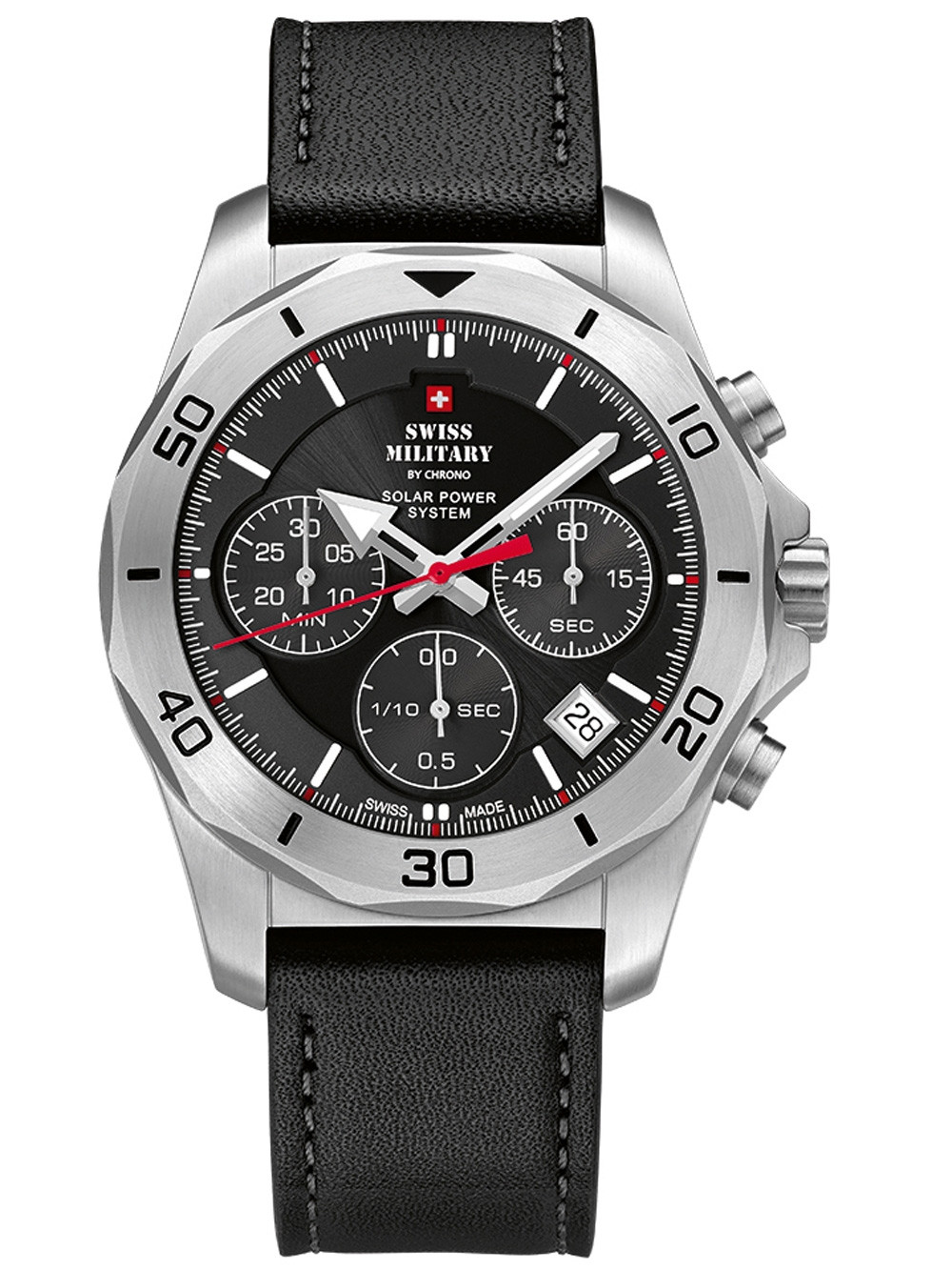 Swiss Military SMS34072.04 Solar Chronograph 44mm 10ATM