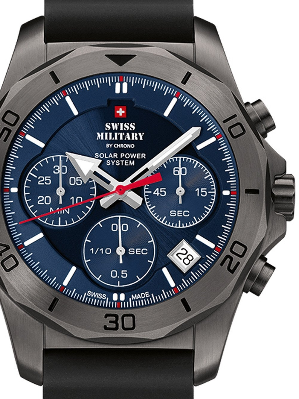 Swiss Military SMS34072.08 Solar Chronograph 44mm 10ATM