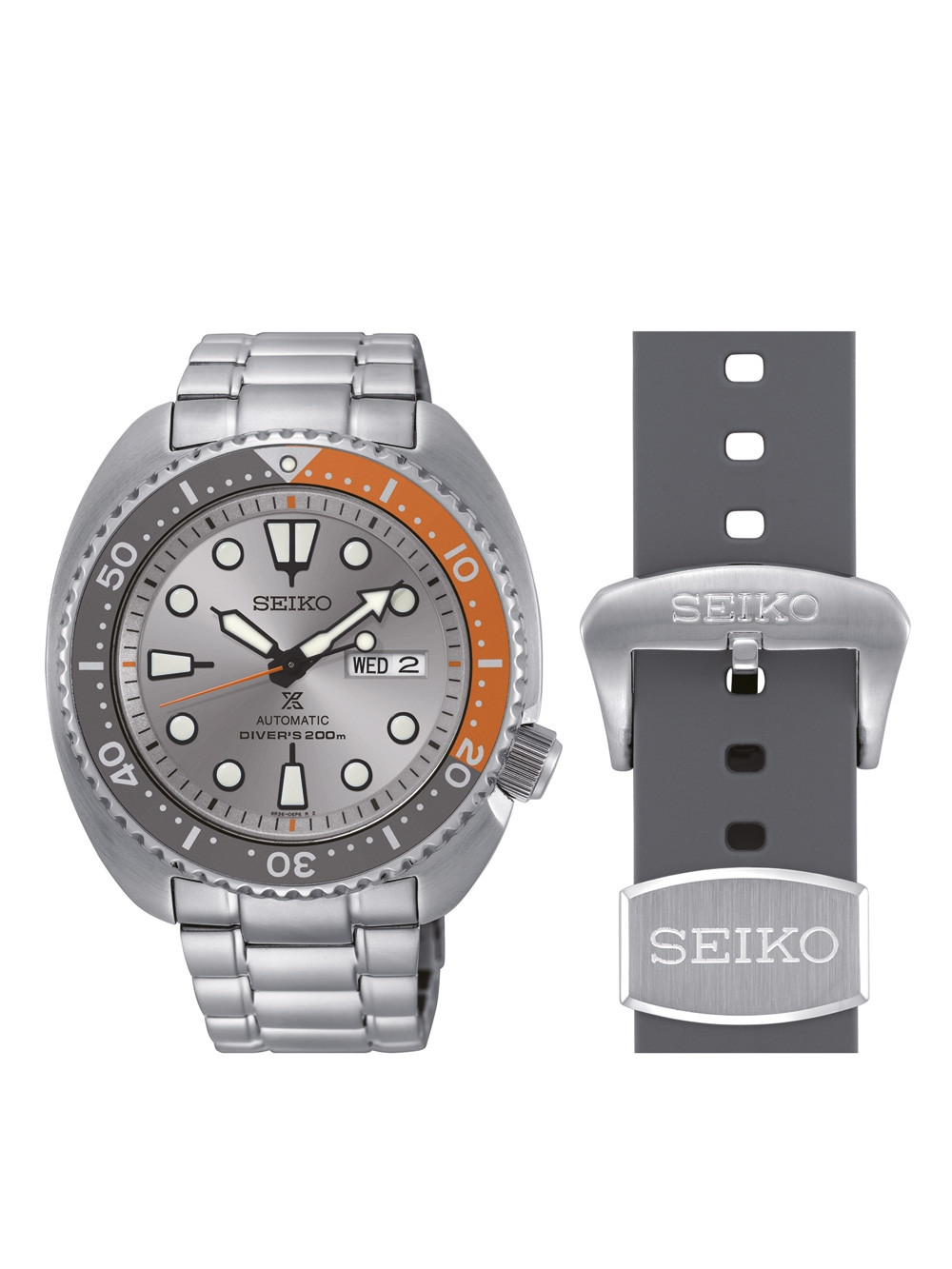 Seiko SRPD01K1 Prospex Dawn Grey ltd. Edition m. Wechselarmb. 45mm 20ATM