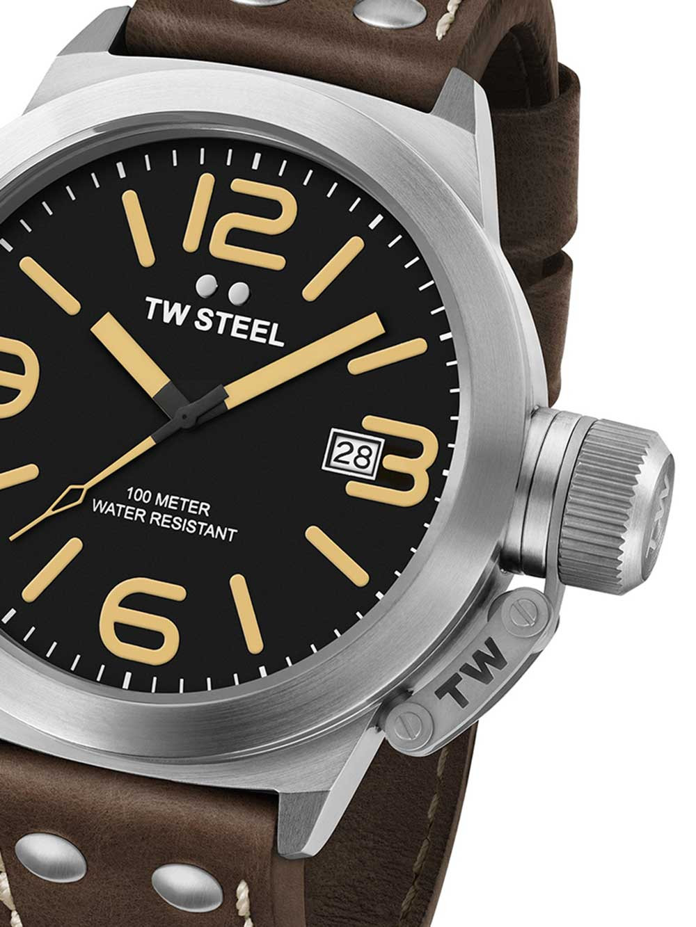 TW Steel CS31 Canteen Leather 45mm 10ATM