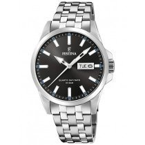 Festina F20357/2 Klassik Day-Date Herrenuhr 41mm 10ATM