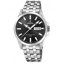 Festina F20357/4 Klassik Day-Date Herrenuhr 41mm 10ATM