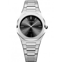 D1 Milano UTBL05 Silver Night Ultra Thin 34 mm Damen 5ATM