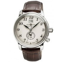 Zeppelin LZ127 7644-5 Herrenuhr Dual-Time braun silber 42 mm