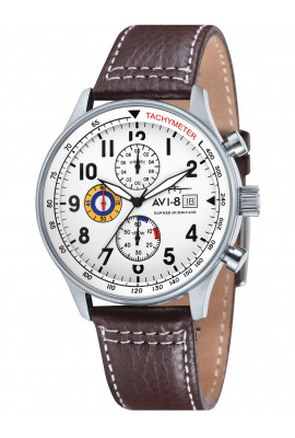 AVI-8 AV-4011-01 Hawker Hurricane Chronograph 43mm 5ATM
