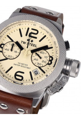 TW-Steel CS13 Canteen Leather Chronograph 45mm 10ATM