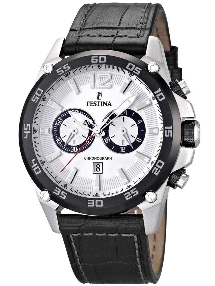 Festina Sport F16673/1 Chronograph silber 47 mm 10 ATM