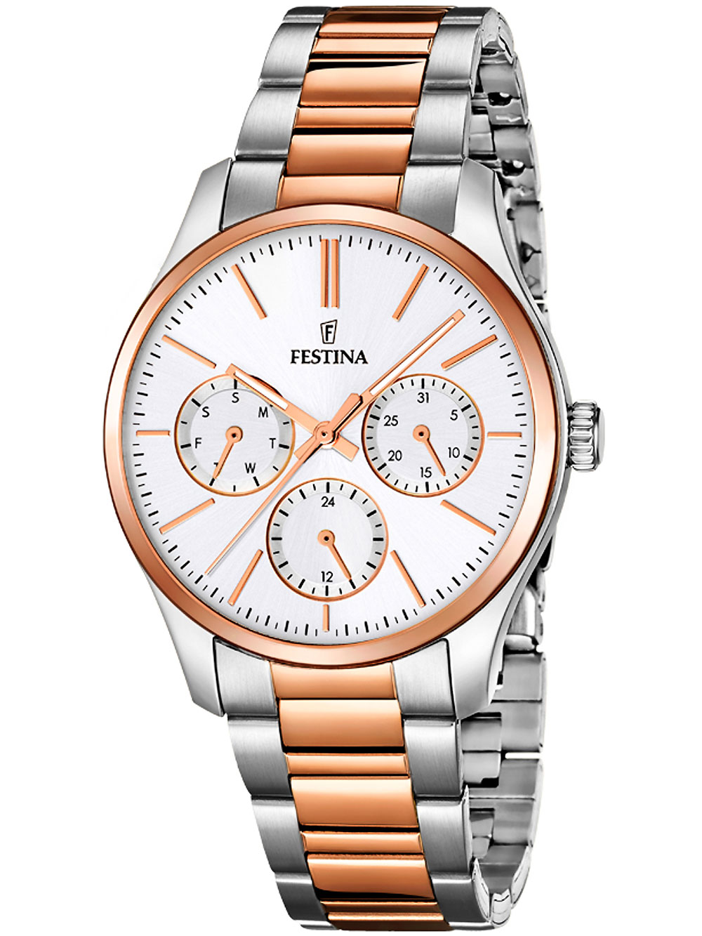 Festina F16814/2 Damenuhr 36mm bicolor 50M
