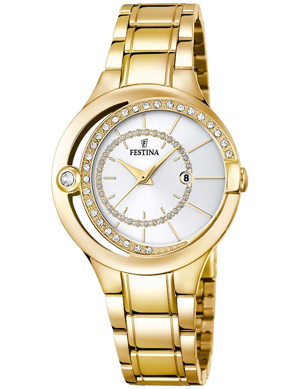 F16948/1 Trend Damenuhr gold 33mm 5ATM