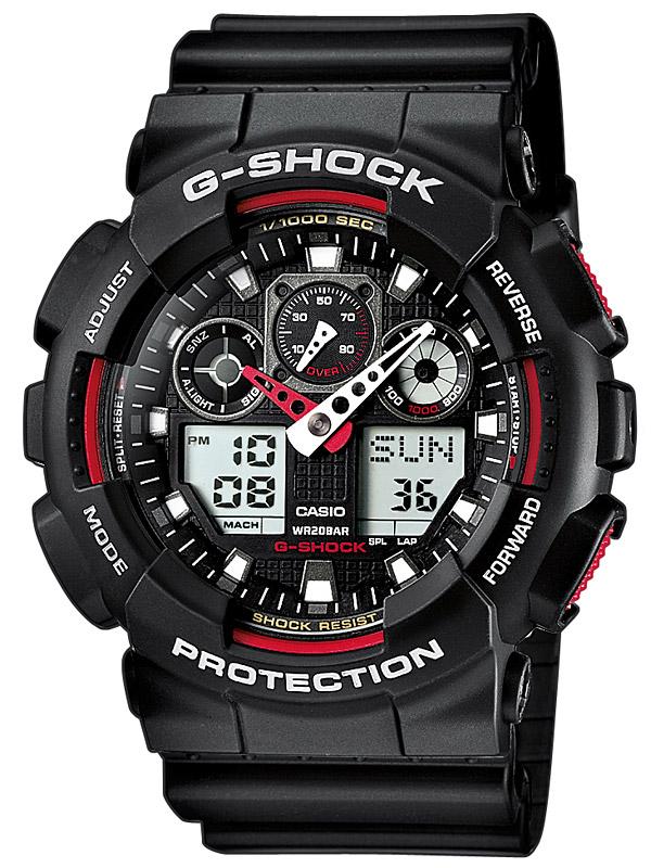 Casio Herrenuhr G Shock GA 100 1A4ER