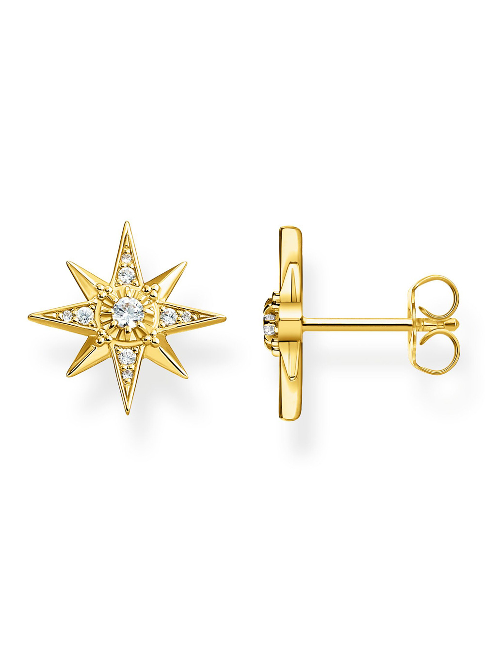 Thomas Sabo Ohrring Glam & Soul H2081-414-14 Stern Gold | Schmuck > Ohrschmuck & Ohrringe > Ohrstecker | Gold | Thomas Sabo