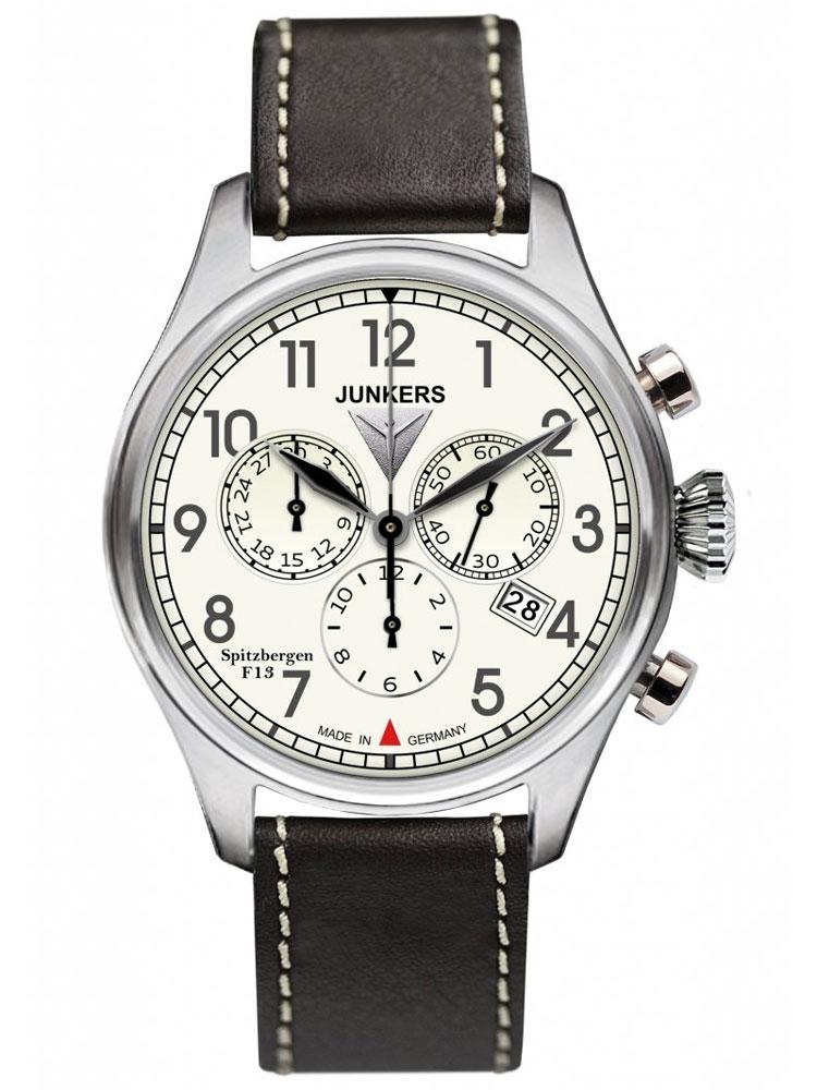 Junkers Spitzbergen F13 6186 5 Herrenuhr Chronograph