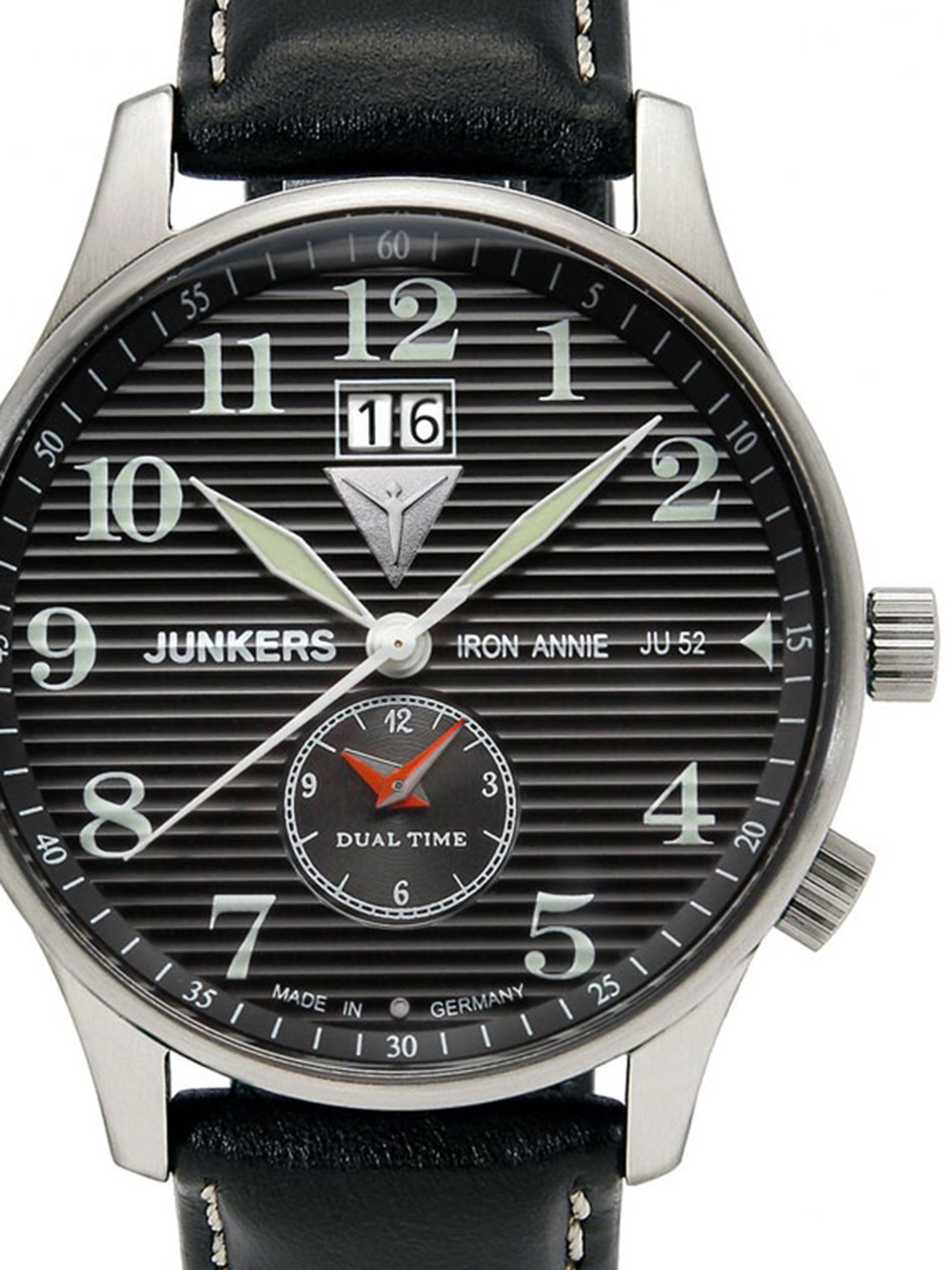 Junkers Lufthansa Ju 52 6640 2 Dual Time Herrenuhr