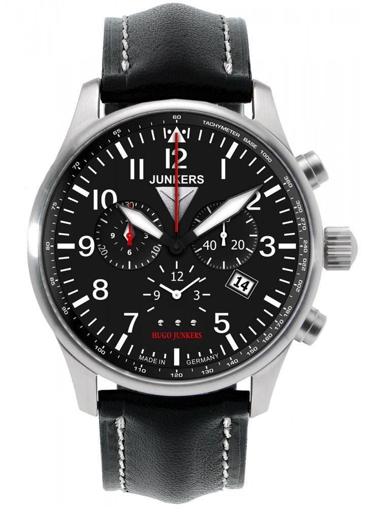 Junkers Hugo 6684 2 Herrenuhr Alarm Chronograph