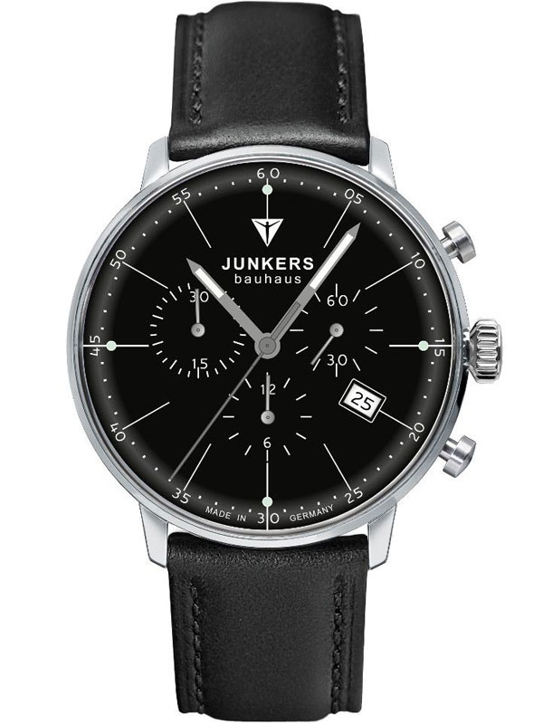 Junkers Bauhaus Chrono 6088 2 Herrenuhr 40 mm
