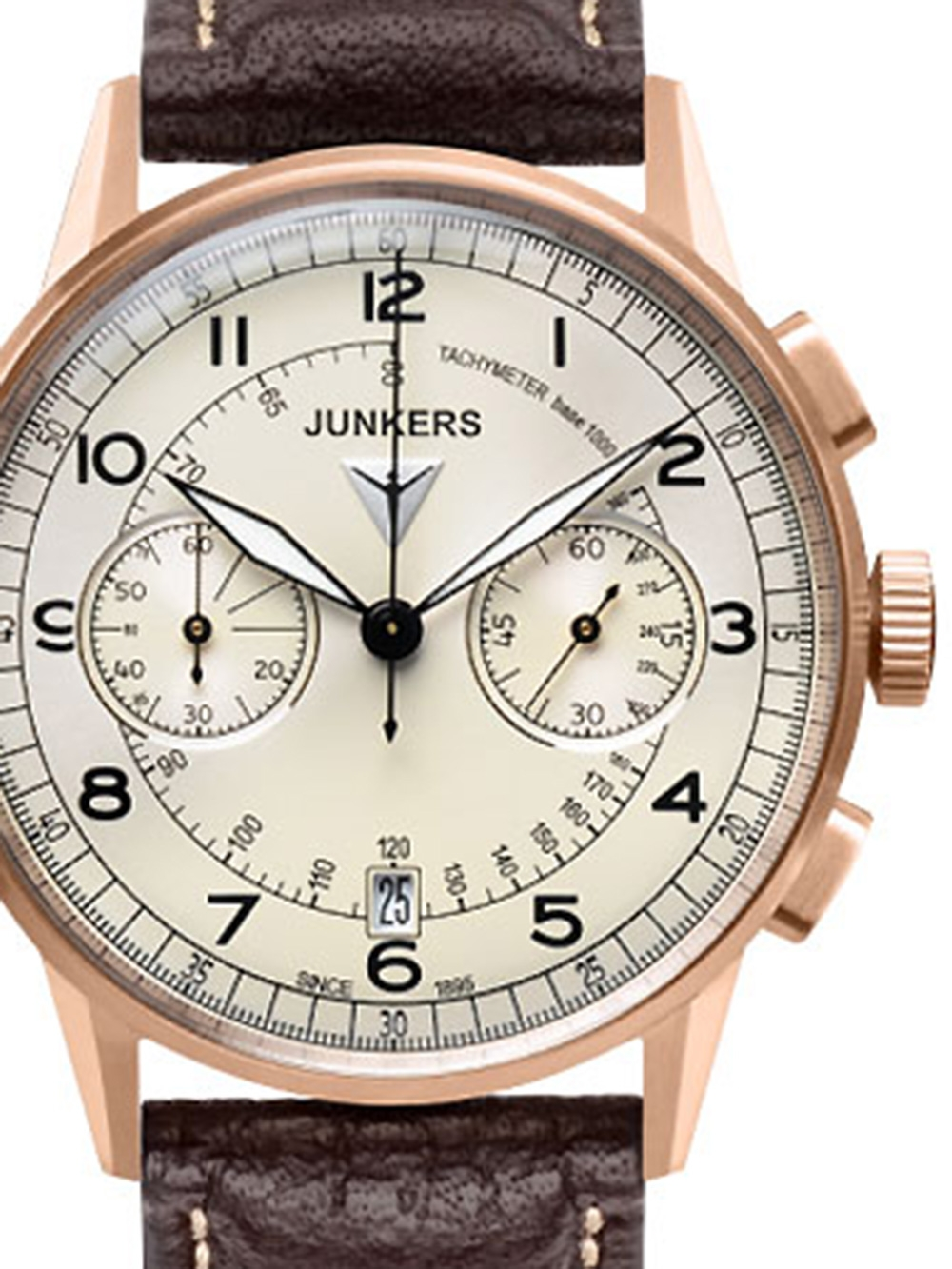 Junkers G38 6972 1 Chronograph gold braun 42 mm 100M