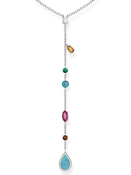 Thomas Sabo Halskette KE1758-476-7-L50v 50cm m. Anh. Riviera Colours