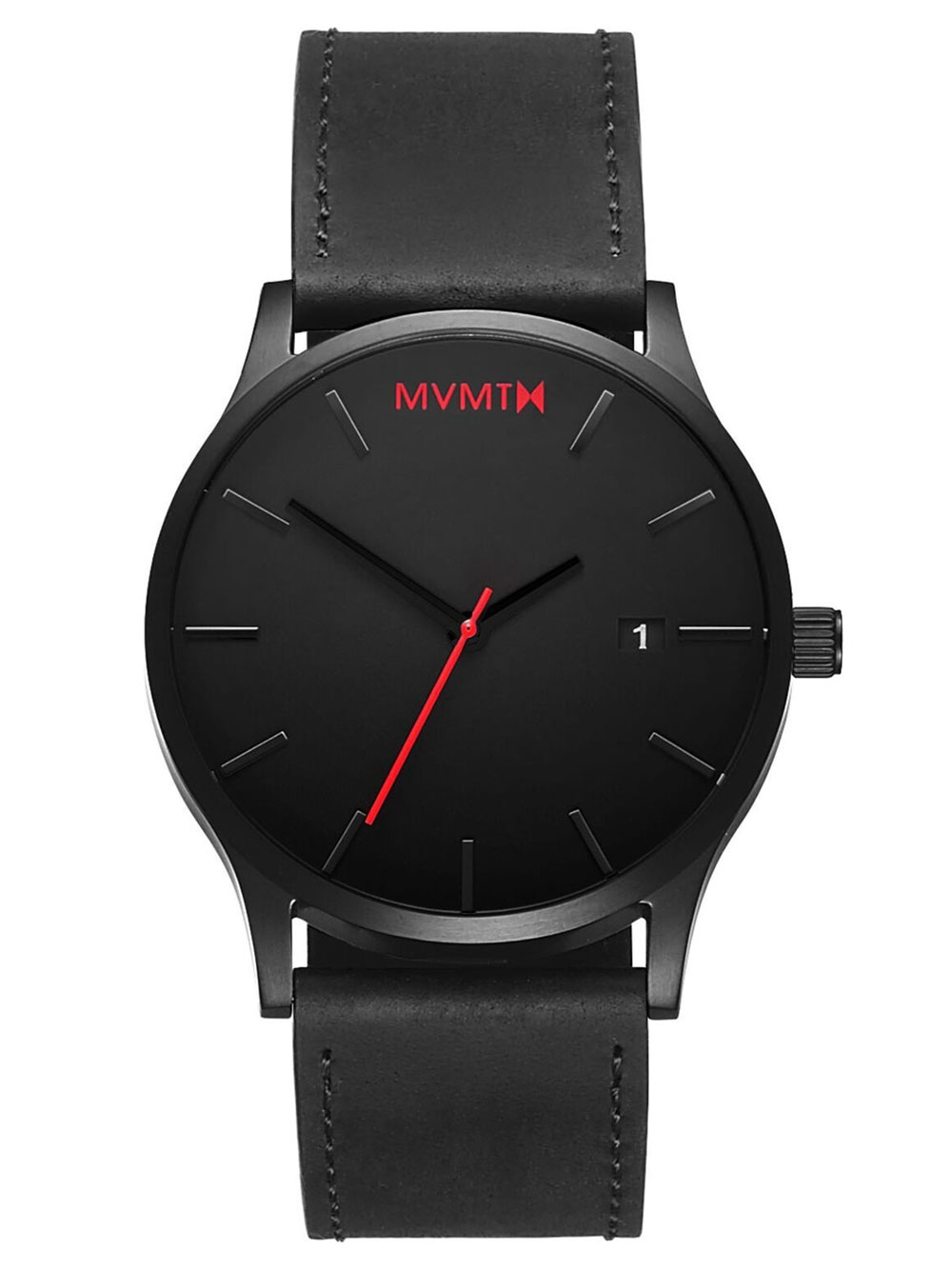 MVMT L213.5L.551 Classic Black Leather 45mm 3ATM
