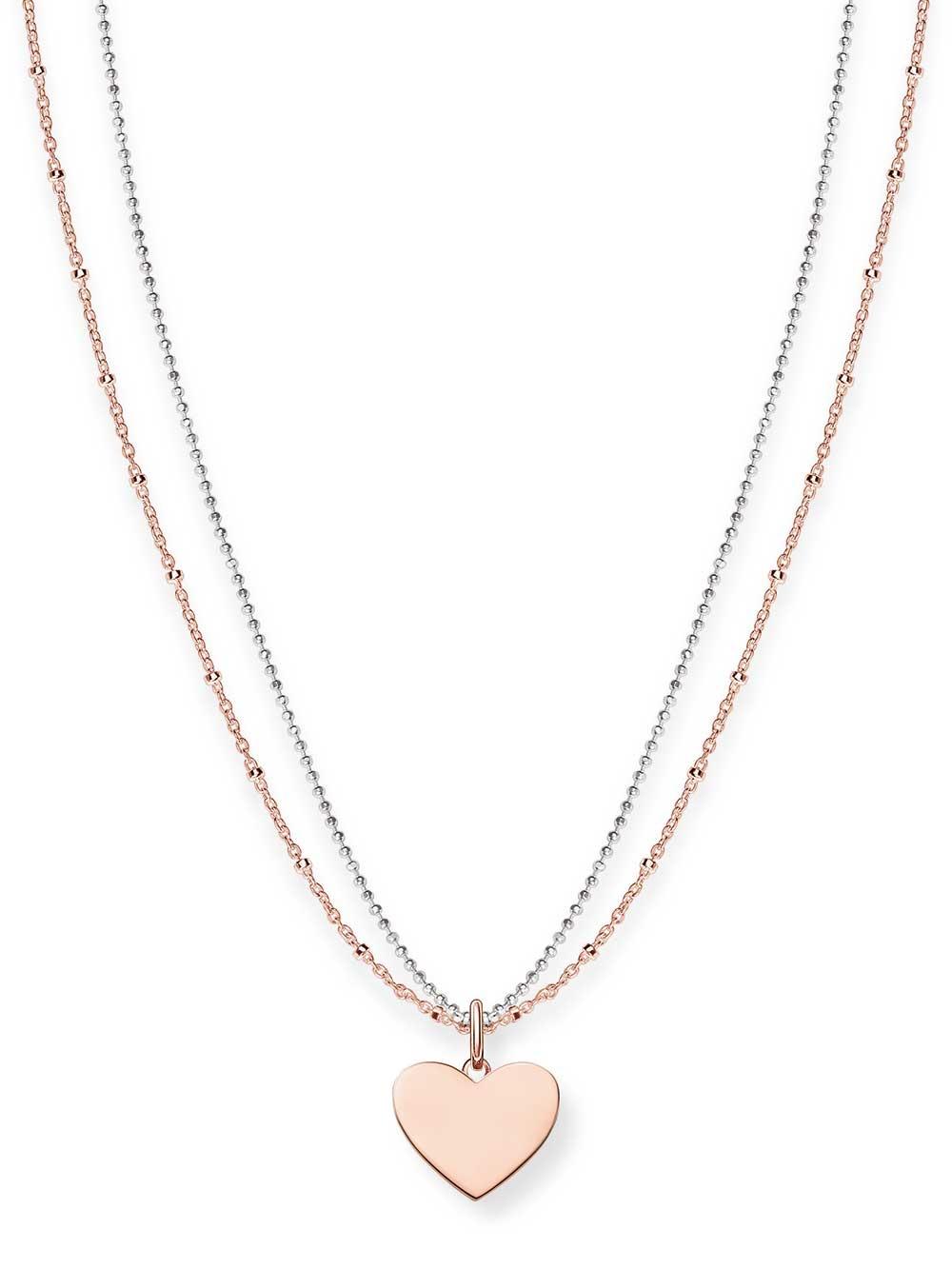 Thomas Sabo Halskette LBKE0004-415-12 925er mit Anhänger Herz 40-45cm