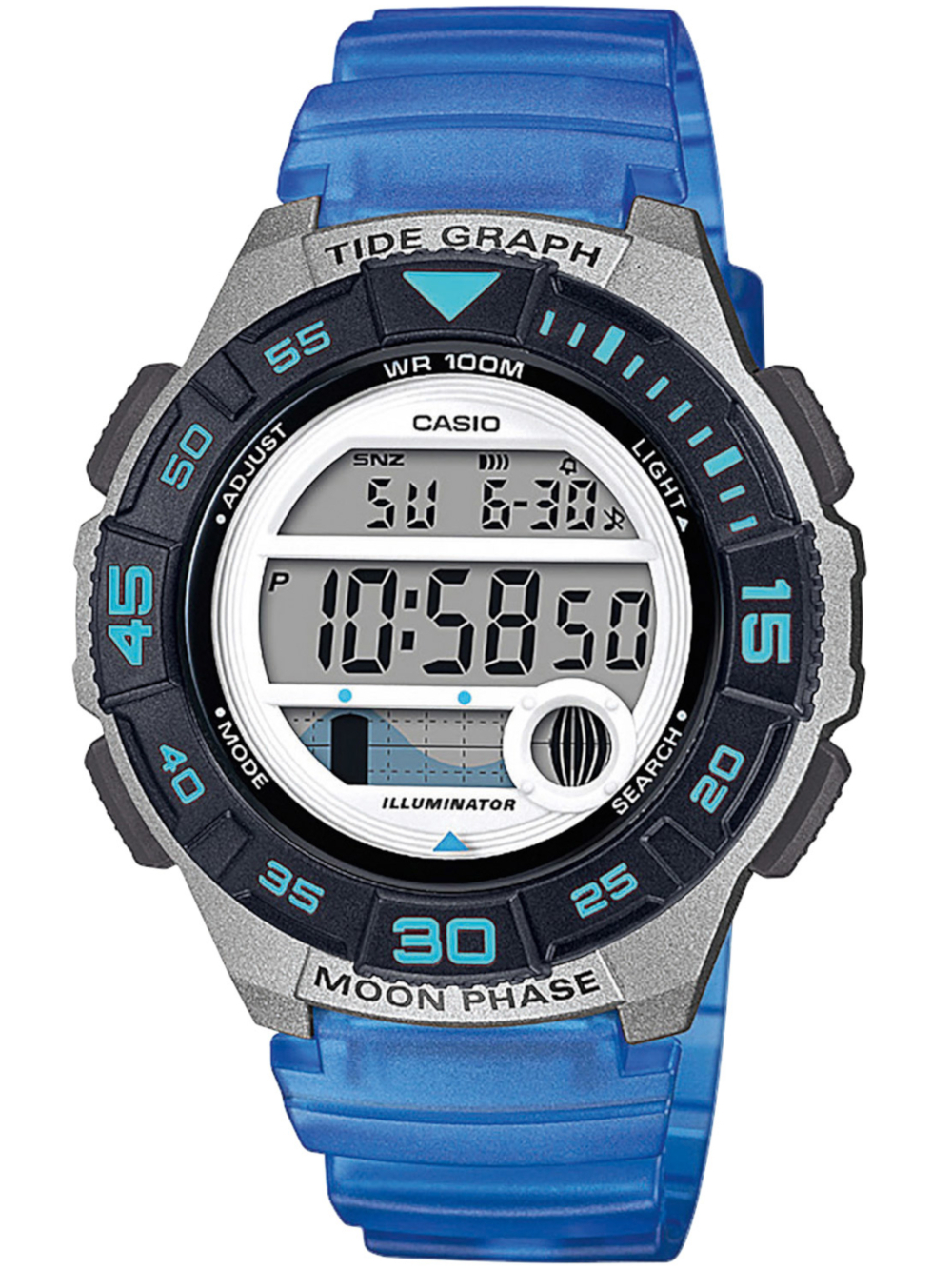 Uhren - Casio LWS 1100H 2AVEF Collection Damen 38mm 10ATM  - Onlineshop Timeshop24