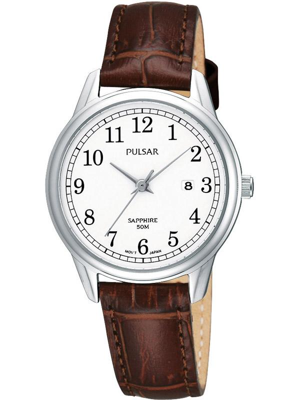PH7187X1 Klassische Damenuhr mit Lederband