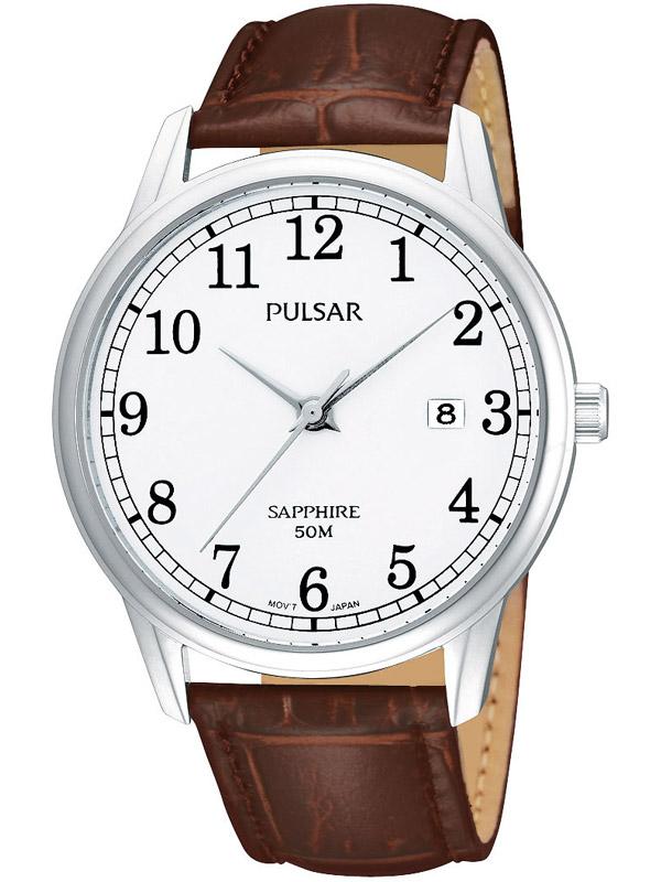 Pulsar PS9055X1 Zeitlose Herrenuhr mit Saphirglas