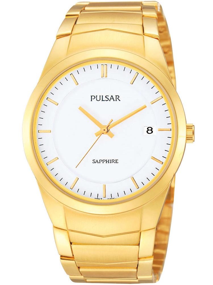 Pulsar PS9130X1 Herrenuhr gold weiss mit Saphirglas