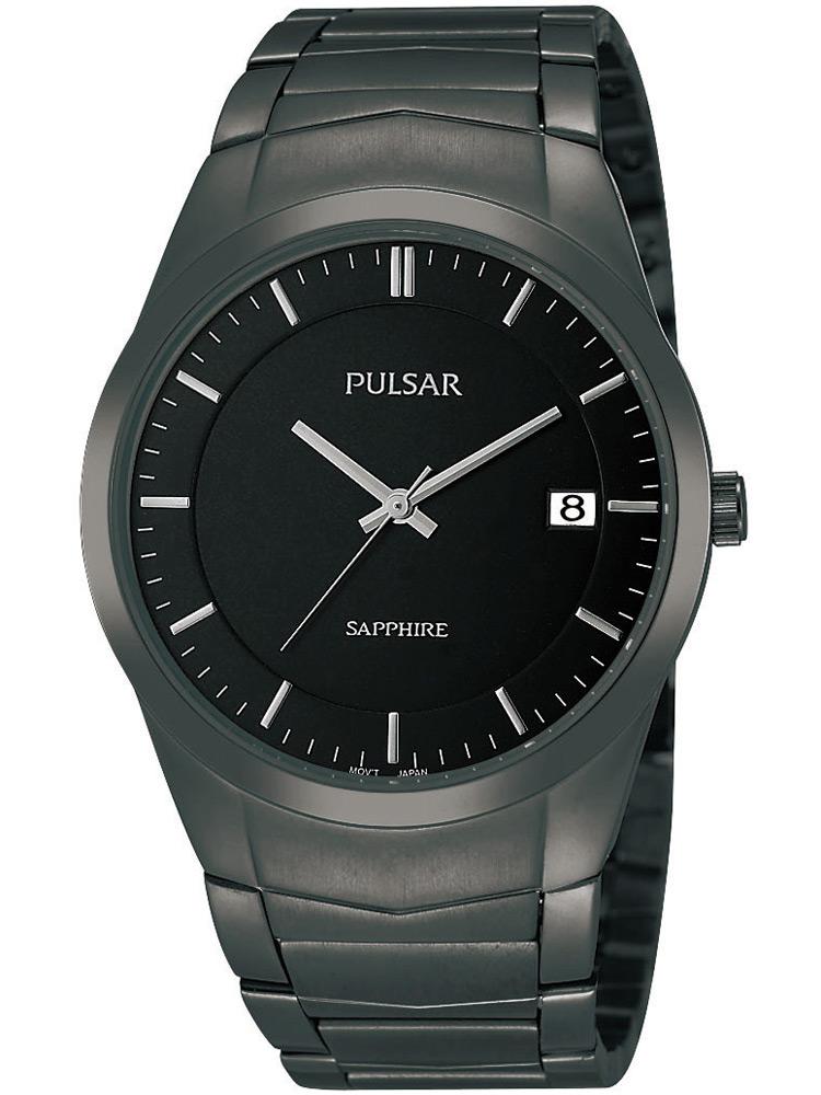 Pulsar PS9141X1 Herrenuhr schwarz mit Saphirglas