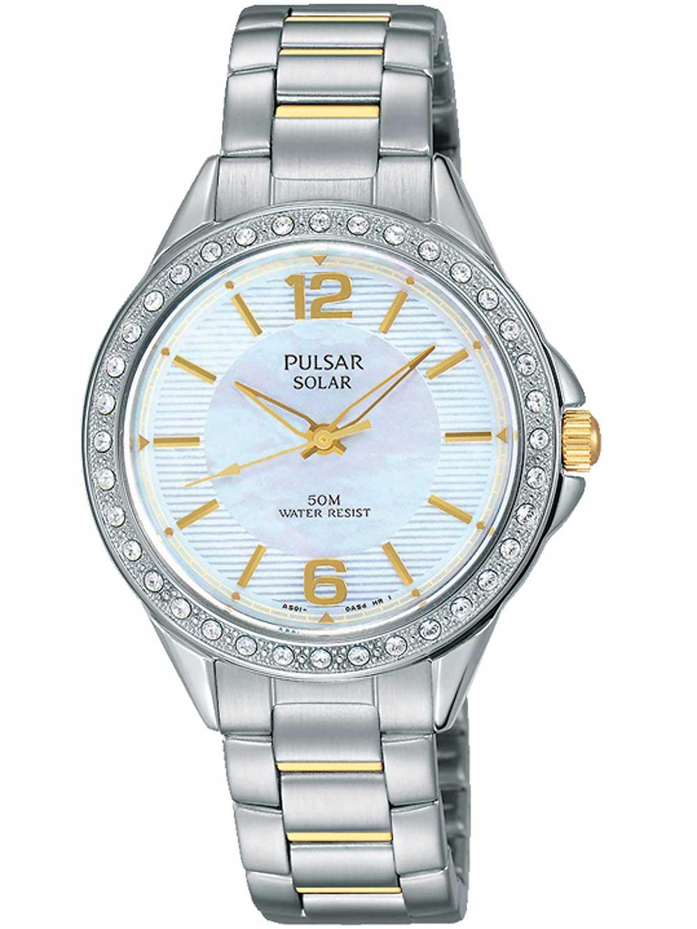 Pulsar PY5011X1 Solaruhr Damen mit Swarovski 32mm 5ATM