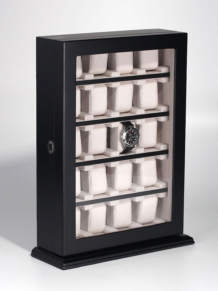Rothenschild Uhrenvitrine RS-1100-20BL für 20 Uhren black | Uhren > Uhrenboxen | Rothenschild
