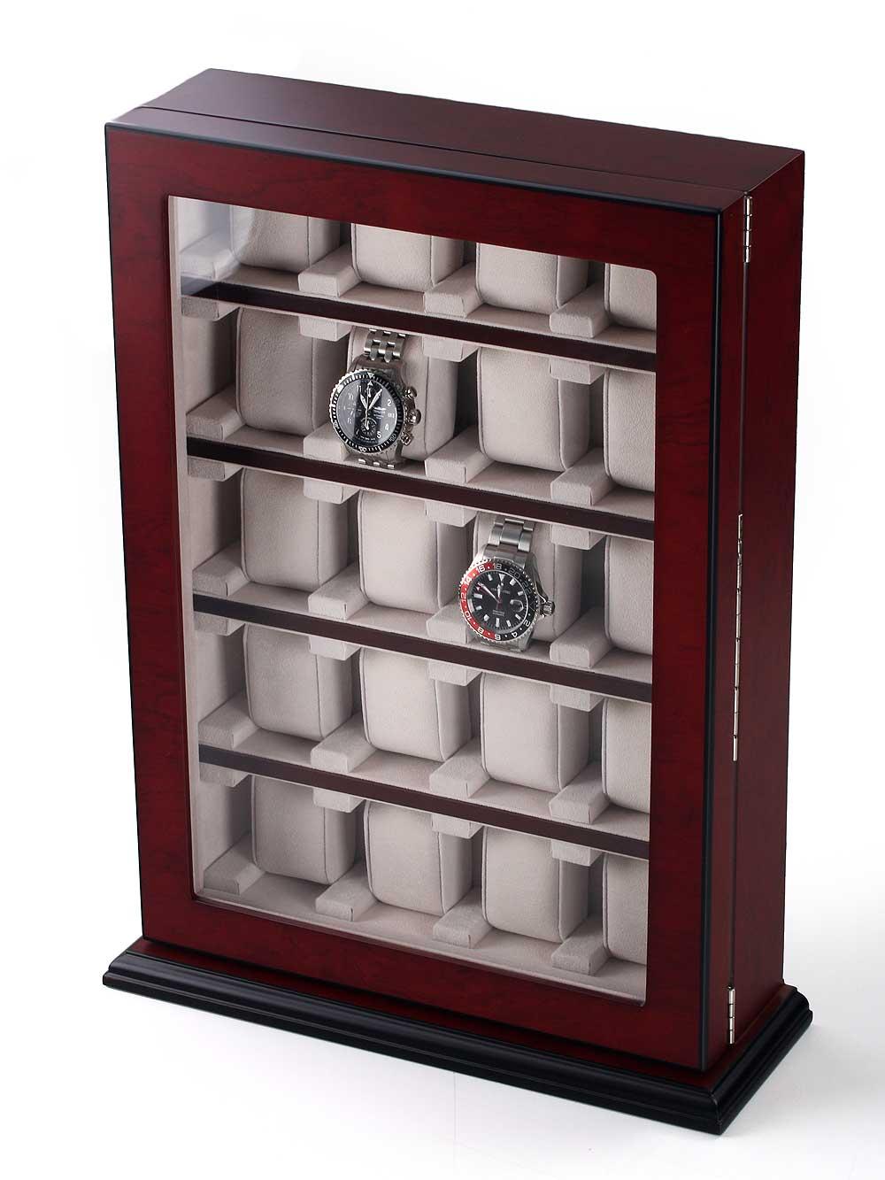 Rothenschild Uhrenvitrine RS-1100-20BU für 20 Uhren bubinga | Uhren > Uhrenboxen | Rothenschild