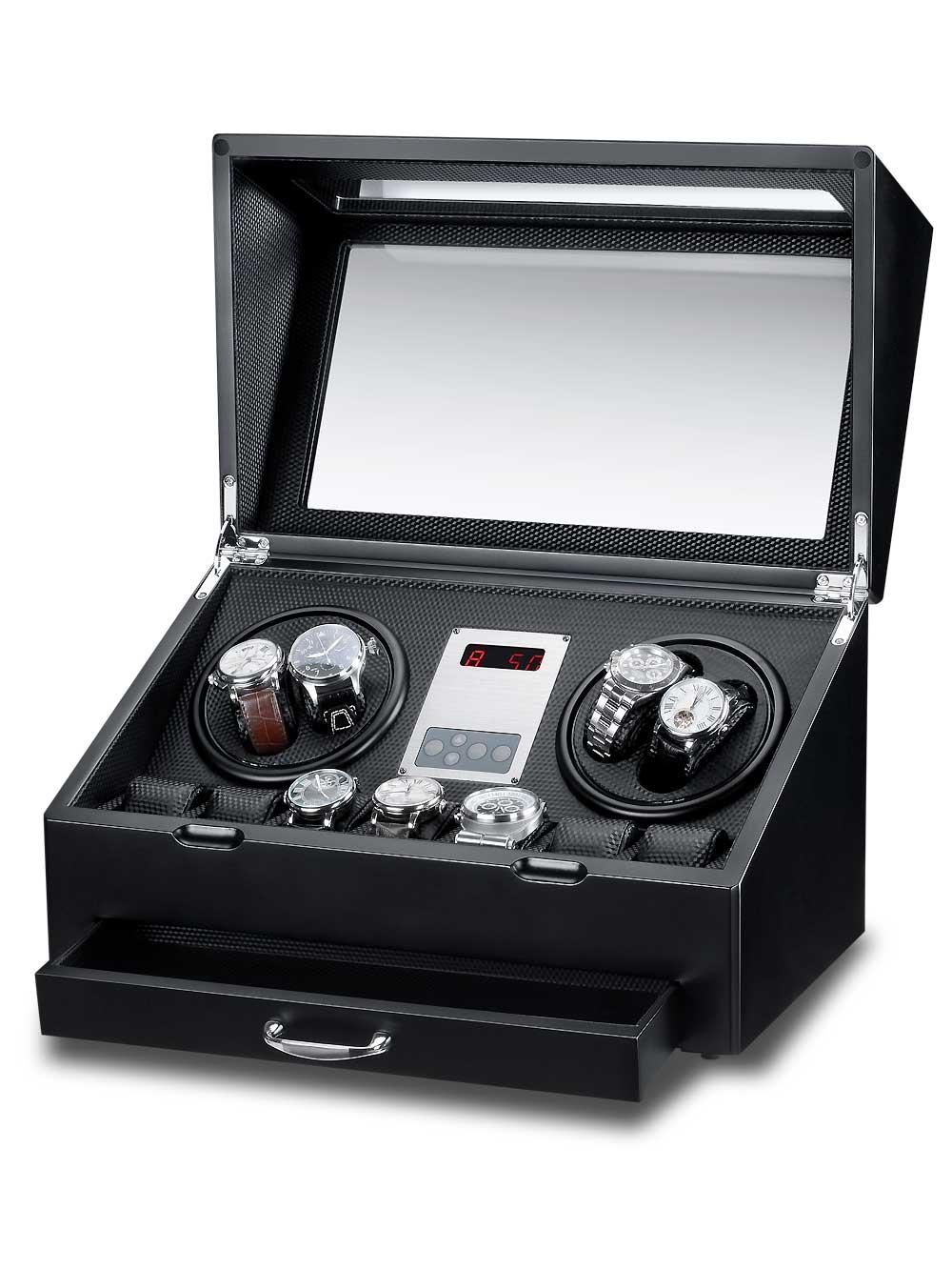 Rothenschild Uhrenbeweger [4+7+X] Panama RS-2312-BK | Uhren > Uhrenbeweger | Rothenschild