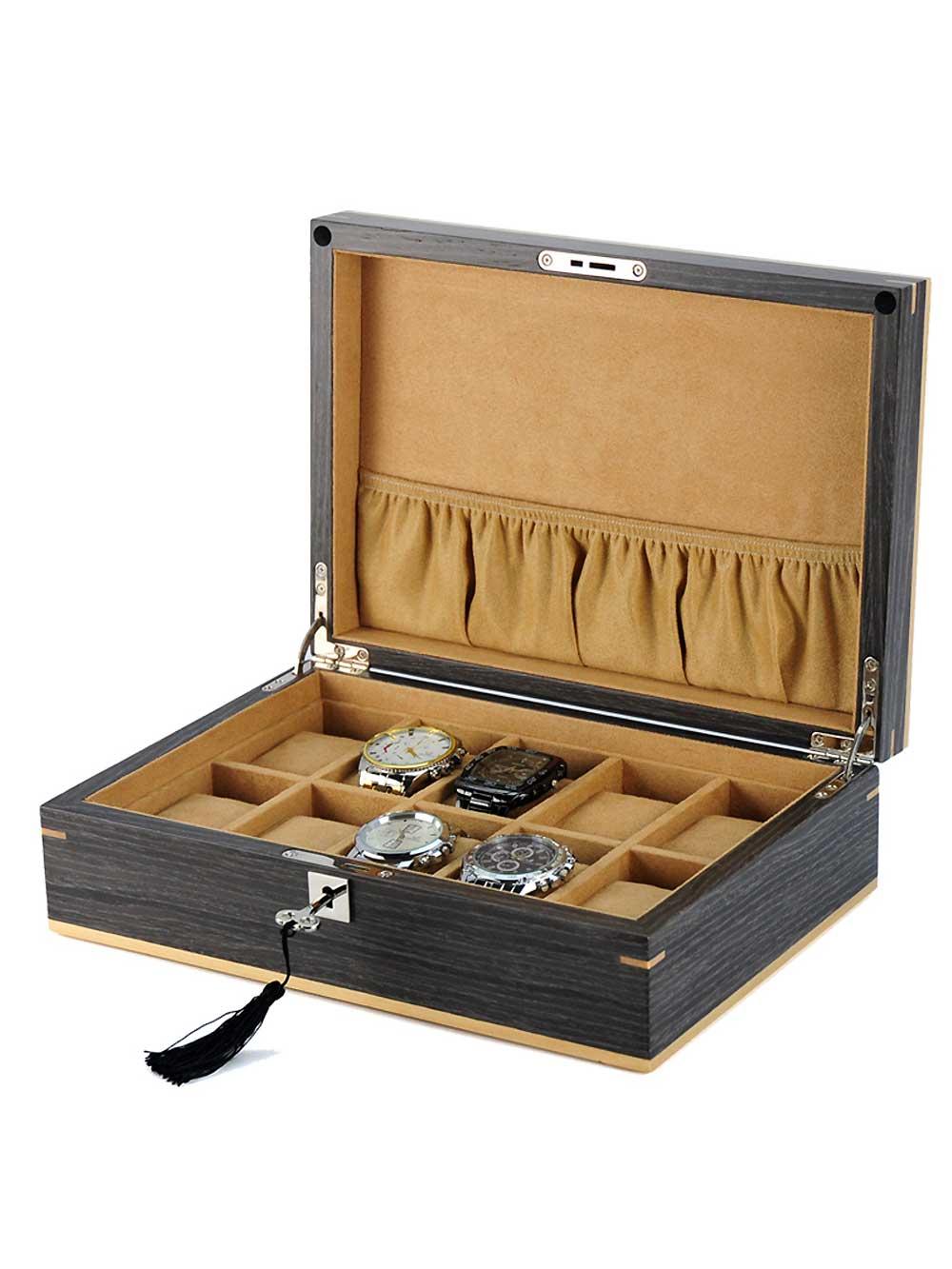 Rothenschild Uhrenbox [10] Ginko RS-2320-10G