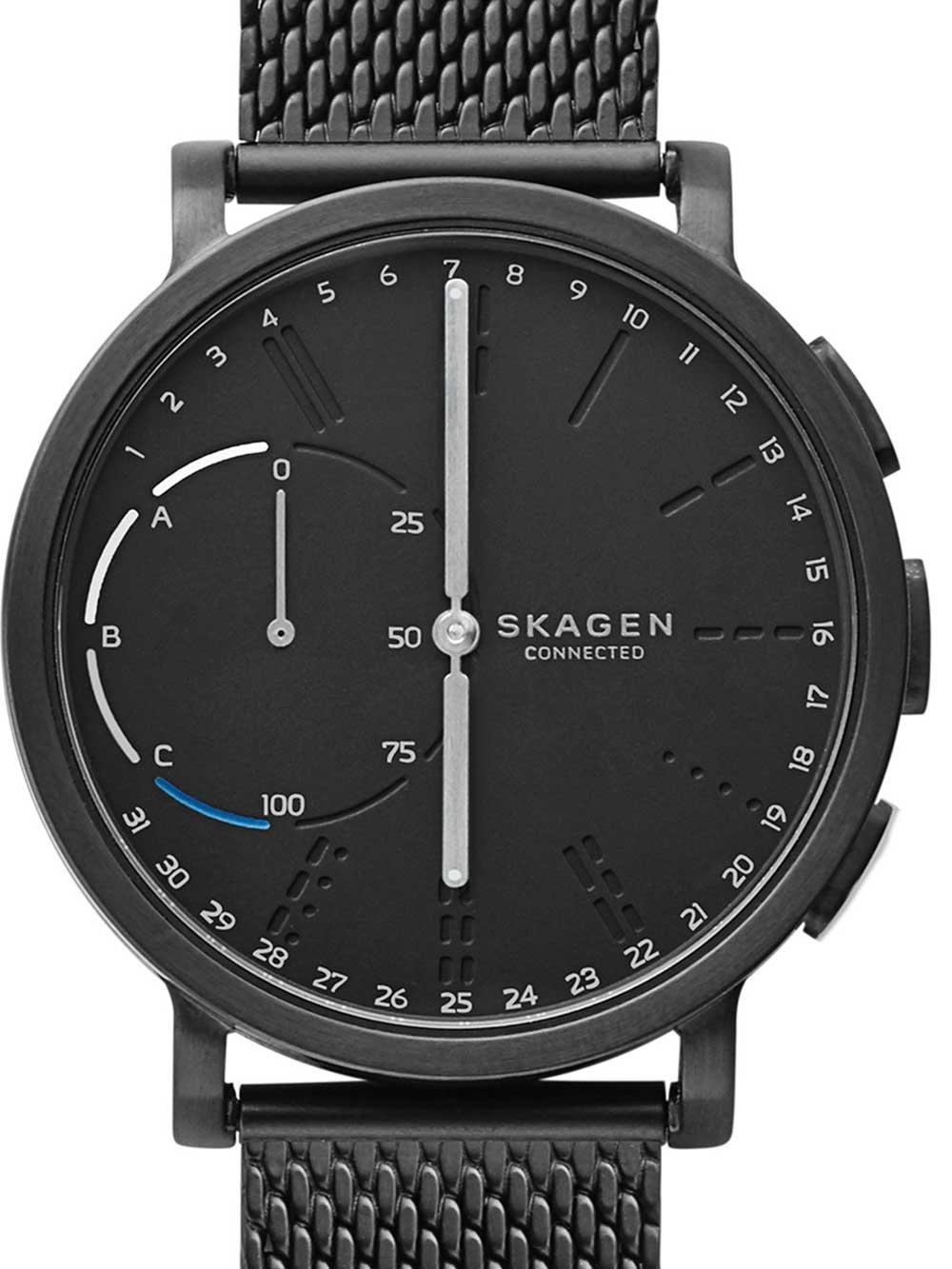 Skagen SKT1109 CA Hagen Black Hybrid Smartwatch Unisex 42mm 3ATM