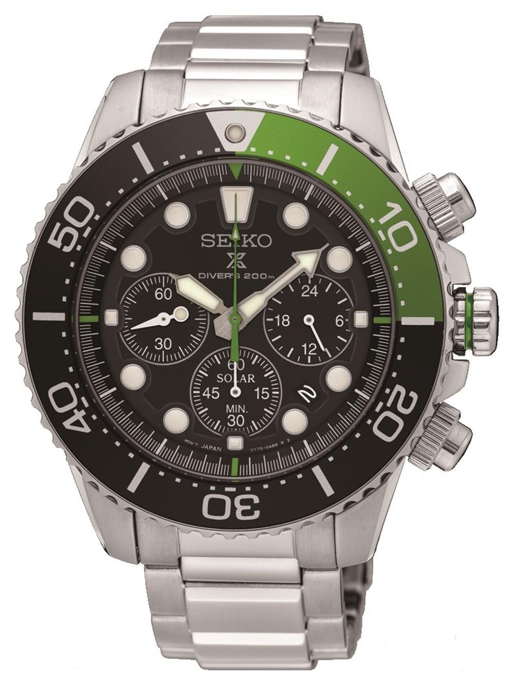 Seiko SSC615P1 Prospex Solar Diver Chronograph 43mm 20ATM