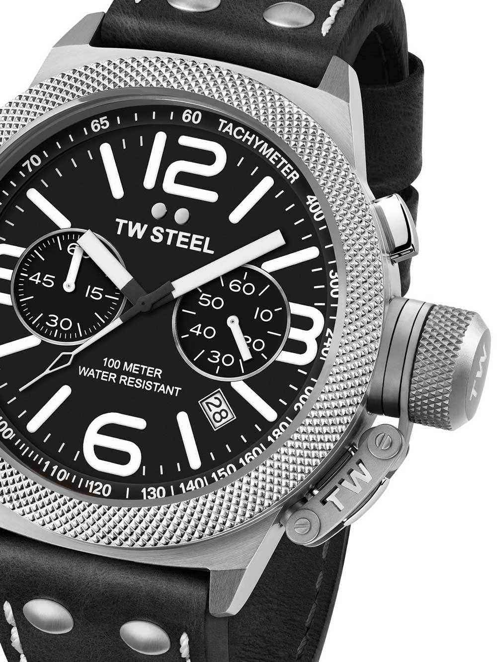 TW-Steel CS4 Canteen Leather Chronograph 50mm 10ATM