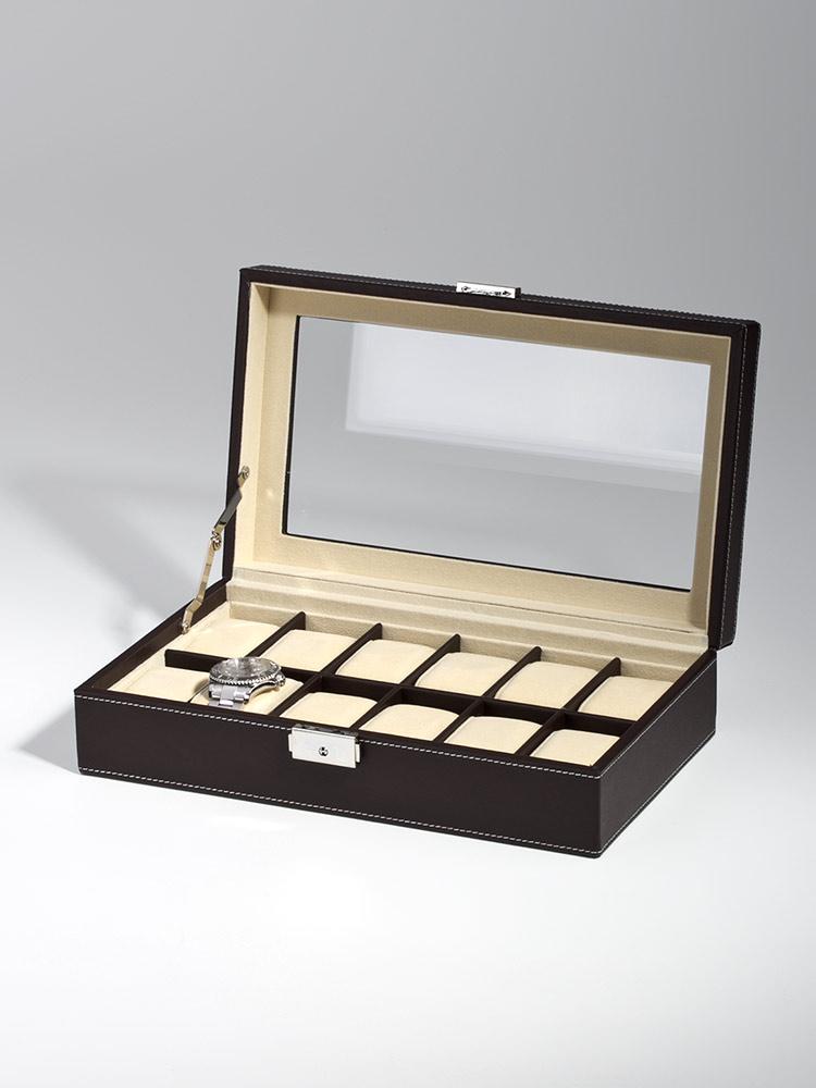 Rothenschild Uhrenkiste RS-1098-12DBR fuer 12 Uhren brown | Uhren > Uhrenboxen | Rothenschild